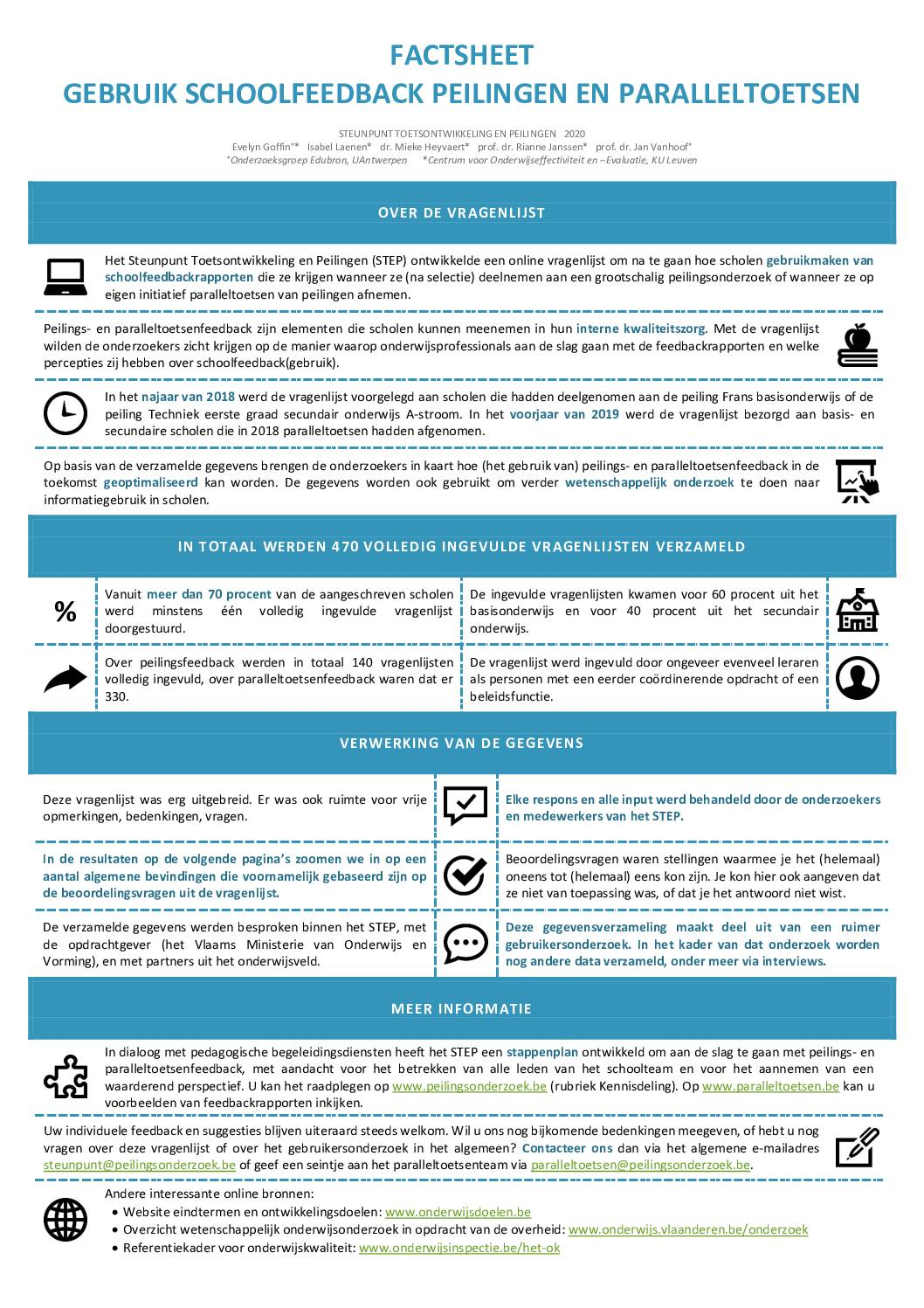 Factsheet survey-onderzoek: aan de slag met peilings- en paralleltoetsenfeedback